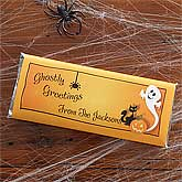 Ghostly Greetings Custom Candy Bar Wrappers