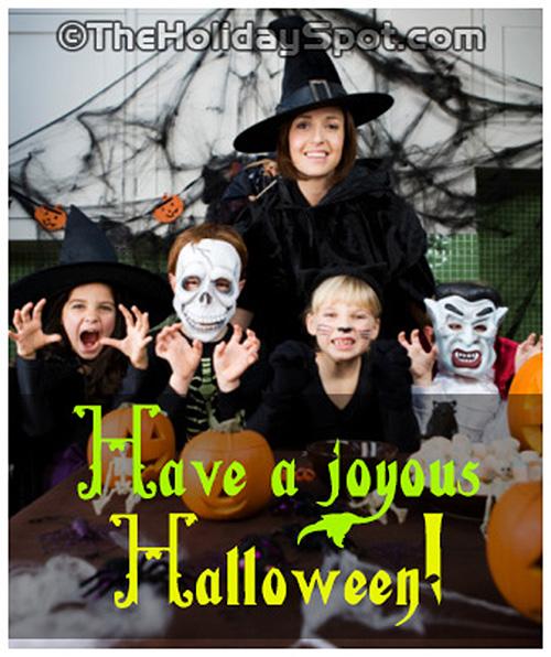 Have a joyous Halloween