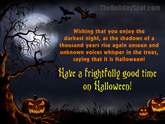 Halloween Greeting Card For WhatsApp And Facebook