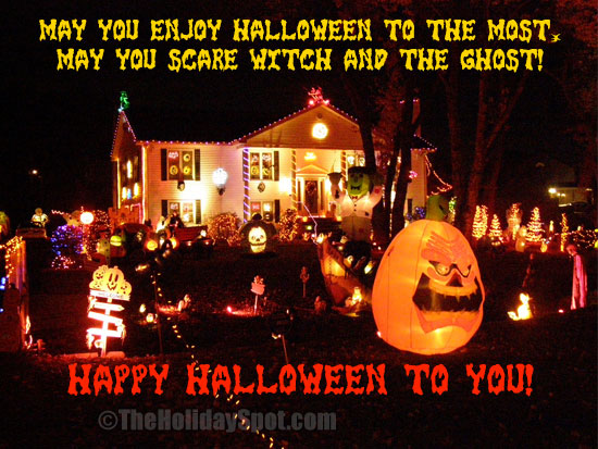 May you enjoy Halloween to the most