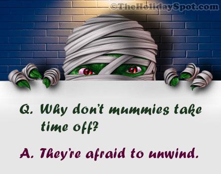 Mummies joke for Halloween