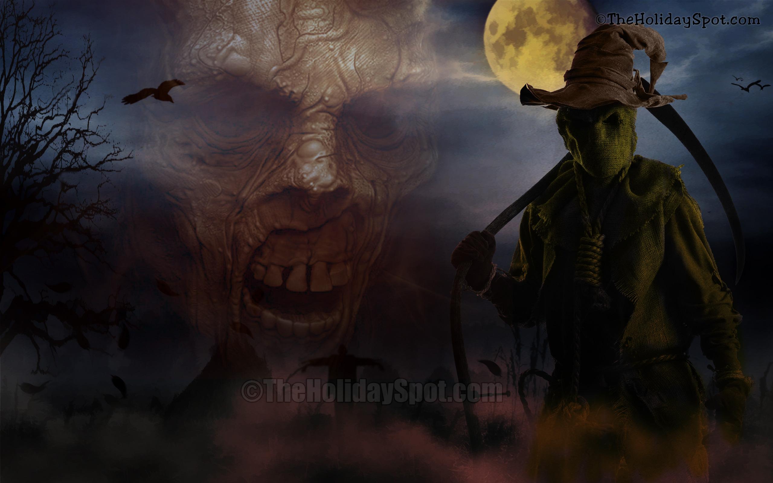 wallpaper demons at halloween night