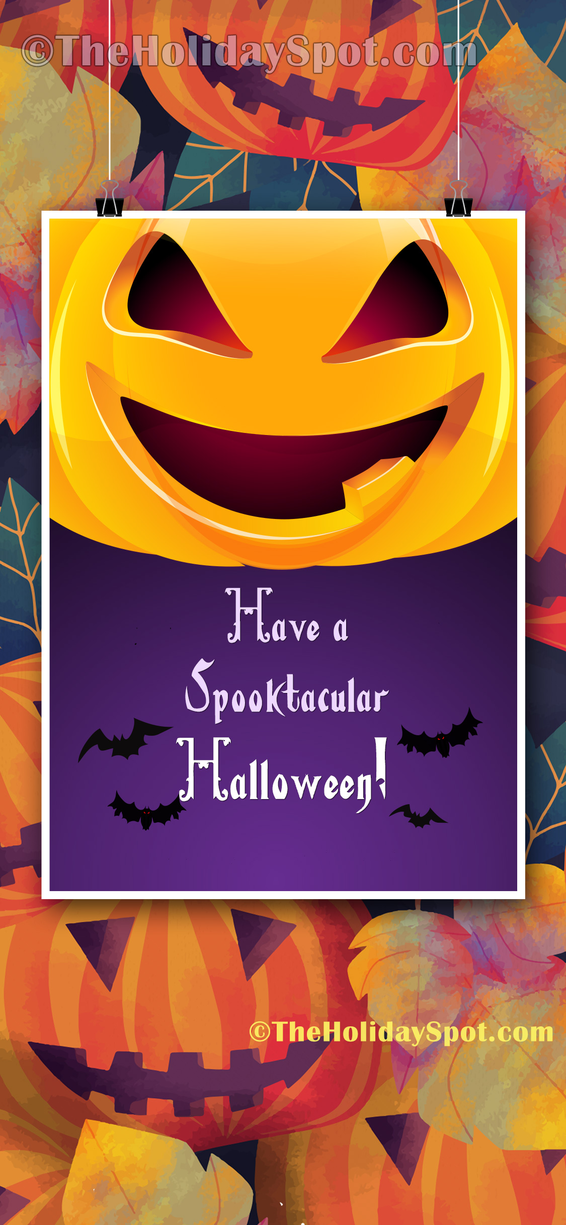 HD Wallpaper For IPhones With Spooktacular Halloween Wishes