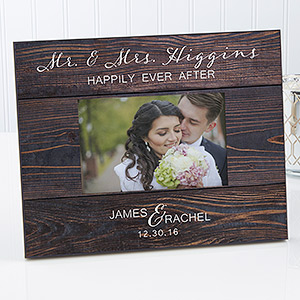 Rustic Elegance Personalized Wedding Picture Frame