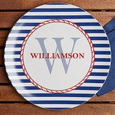 Anchors Aweigh! Personalized Melamine Plate