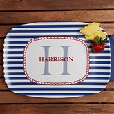 Anchors Aweigh! Personalized Melamine Platter