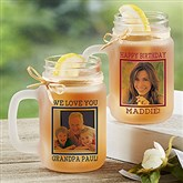 Photo Message Personalized Frosted Mason Jar