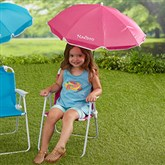 Kid's Pink Beach Chair & Personalized Umbrella Set