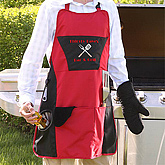Grill Master© Personalized Apron Set