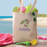 Flip Flop Fun© Personalized Youth Beach Tote
