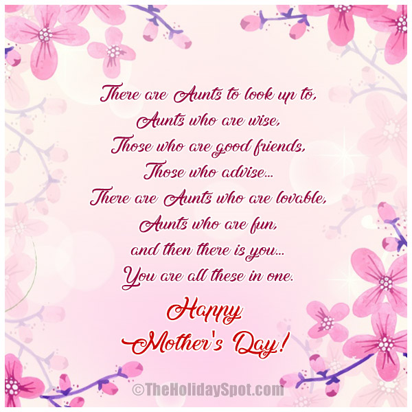 Mother's Day Ecards for Aunts and Aunties