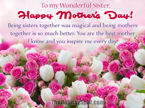 Mothers day greeting cards for sisters and sisters in law mothers m4hsunfo