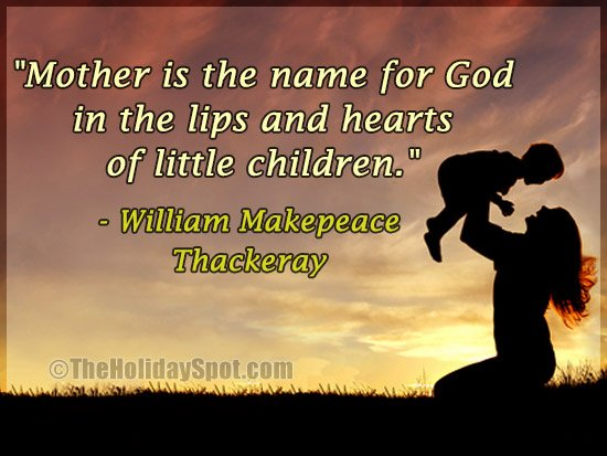 A Mother's Day quote by William Makepeace Thackeray