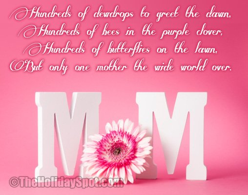 Mothers Day Poems and Poetry | Collection of Mother's Day Poems