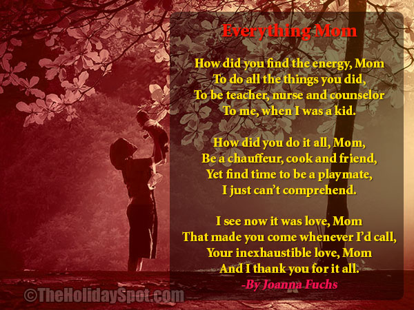 mothers day poem everything mom