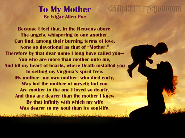 Poems and Poetries on Mother's Day