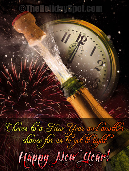greeting card cheers to a new year