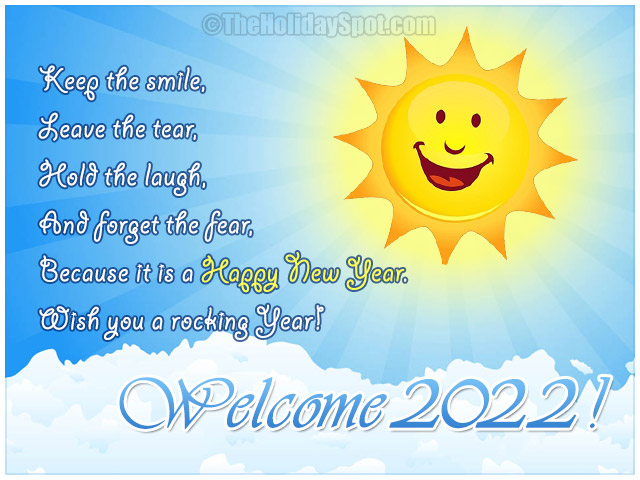 welcome 2019 new year greeting card