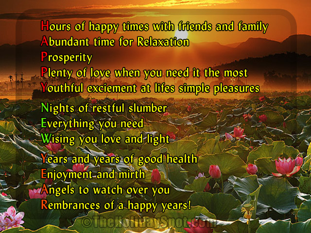 new year card with the meanings