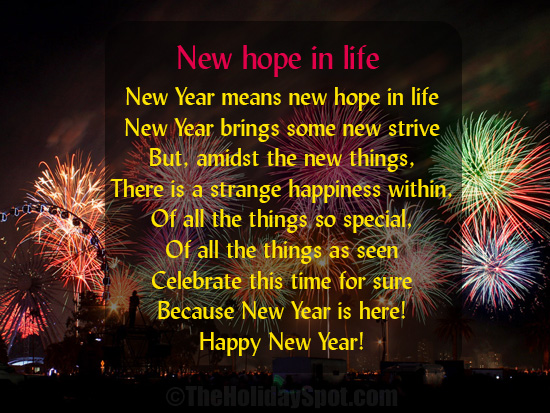 New Year Poem   New Hope In Life