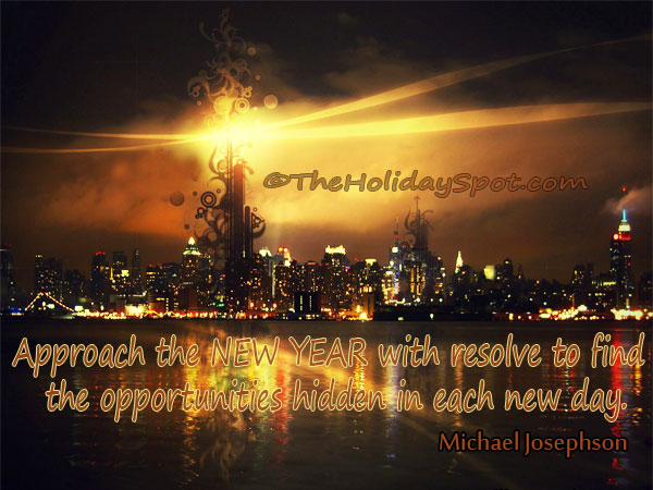 New Year Quote - Opportunities hidden in each new day