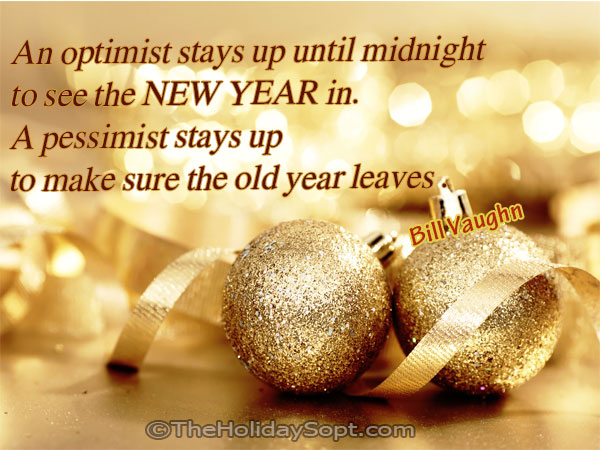 new year quotes on optimists and pessimists