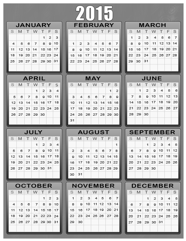 free yearly printable calendar