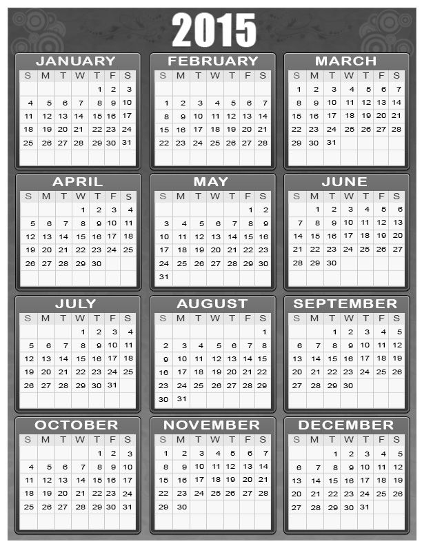 Click here for 1st Black and White 2014 calendar.