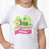 Little Irish Princess Personalized Apparel