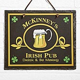 Old Irish Pub Personalized Slate Plaque