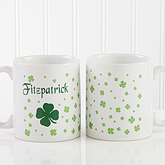 Irish Clover Personalized Coffee Mug