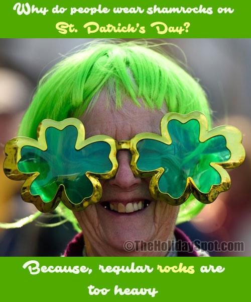 St. Patrick's Day Joke on Shamrocks