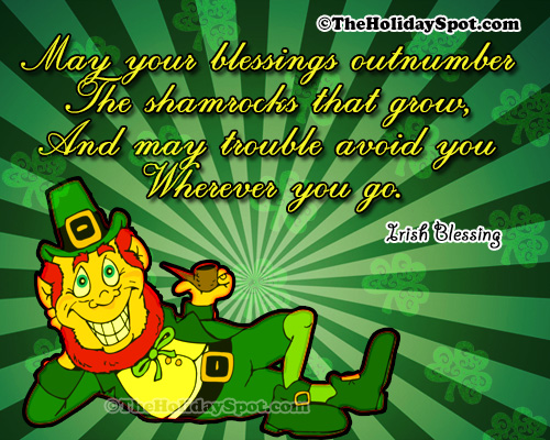 St. Patrick's Day Quotes card of Irish blessings