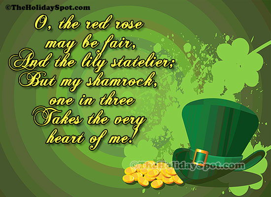 Patrick Quotes on shamrock takes the heart