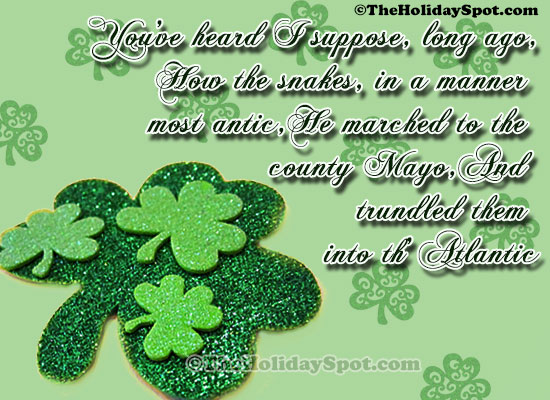 Patrick Day Quotes card - You've heard I suppose