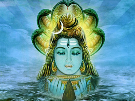 Lord Shiva Drinking Poison