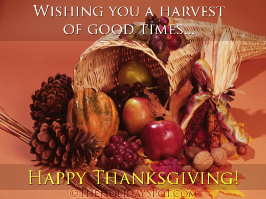 Happy thanksgiving day greeting cards thanksgiving card showing wishes for a harvest of good time m4hsunfo