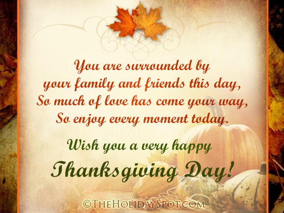 Happy thanksgiving day greeting cards card of wish for a happy thanksgiving day m4hsunfo