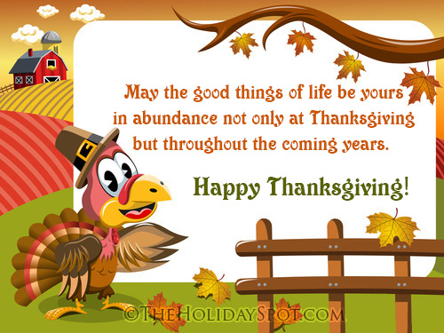 Happy thanksgiving day greeting cards card of thanksgiving wishes throuthout the coming years m4hsunfo