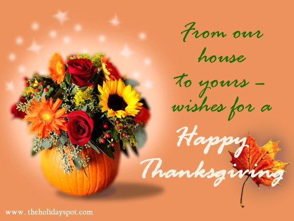 Thanksgiving greeting cards for whatsapp and facebook have a memorable thanksgiving from our house to yours m4hsunfo