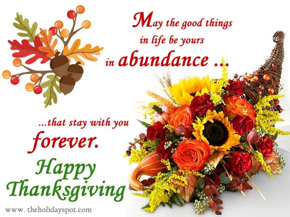 Thanksgiving greeting cards for whatsapp and facebook thanksgiving wishes with cornucopia m4hsunfo