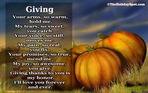 Thanksgiving Poem - Giving