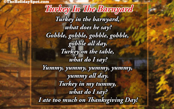 Thanksgiving Poems And Poetry