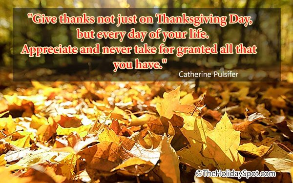 ... Quotation   Give Thanks Not Just On Thanksgiving Day ...