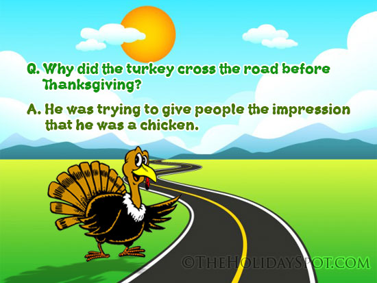 Funny Joke on Thanksgiving and Turkey