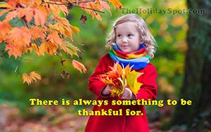 HD Thanksgiving wallpaper - cute little girl holding maple leaves