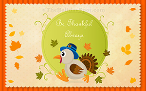 HD Thanksgiving wallpaper of Turkey