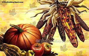 High resolution desktop illustration of Thanksgiving festival