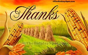 A high resolution 1080i desktop illustration of Thanksgiving Day!