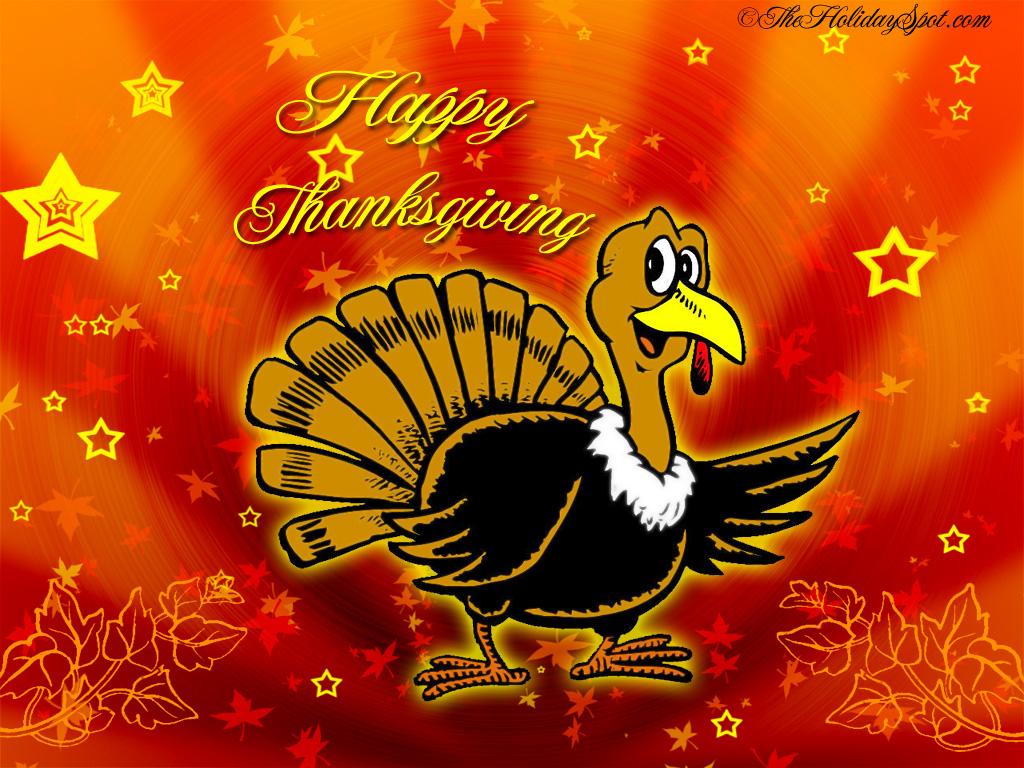 Turkey Saying Happy Thanksgiving